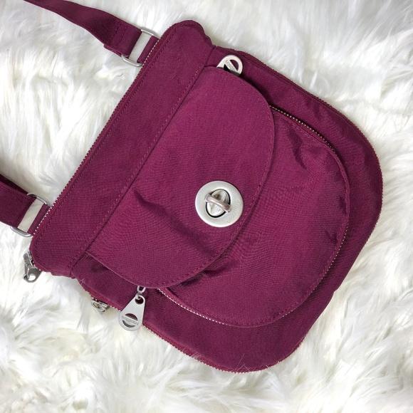 Baggallini Handbags - Baggallini Plum Expandable Crossbody Bag
